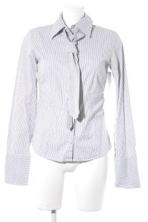 Hallhuber Camisa de manga larga blanco-gris estampado a rayas