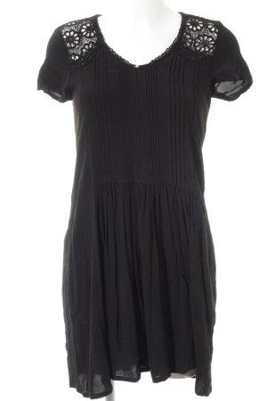 Hallhuber Langarmkleid schwarz Elegant