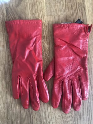 Hallhuber Leather Gloves red