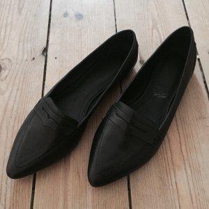 Hallhuber Leder Loafers schwarz