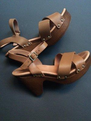 Hallhuber Platform High-Heeled Sandal cognac-coloured