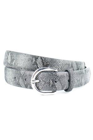 Hallhuber Leather Belt animal pattern reptile print