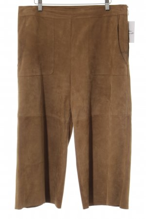 Hallhuber Pantalone in pelle color cammello stile casual