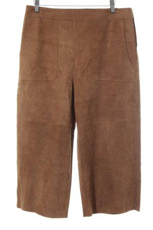 Hallhuber Pantalone in pelle cognac stile casual