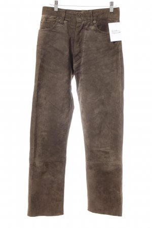 Hallhuber Leather Trousers light brown country style