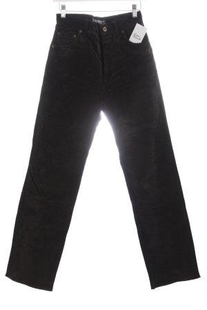 Hallhuber Lederhose schwarz Vintage-Look