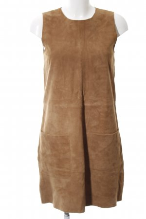 Hallhuber Leather Dress brown casual look