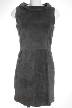 Hallhuber Leren jurk grijs zakelijke stijl