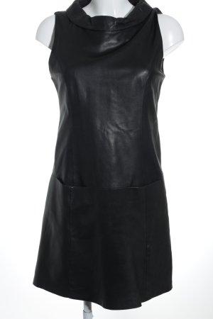 Hallhuber Lederkleid schwarz minimalistischer Stil