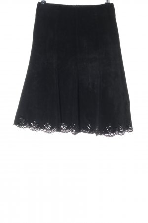 Hallhuber Leather Skirt black casual look