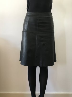Hallhuber Leather Skirt black