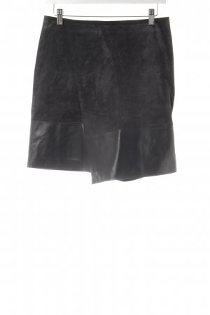 Hallhuber Gonna in pelle grigio scuro-antracite stile  materiale misto