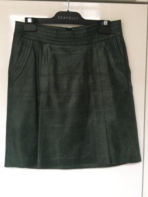 Hallhuber Lederrock, dunkelgrün, Gr. 34