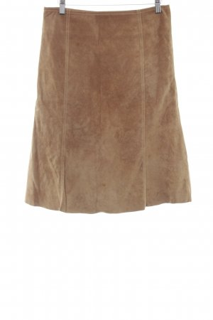 Hallhuber Leather Skirt light brown casual look
