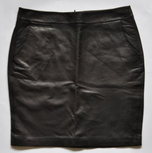 Hallhuber Lederrock Nappaleder schwarz Gr. 40 UNGETRAGEN super weiches Leder
