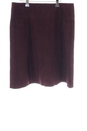 Hallhuber Leren rok paars simpele stijl