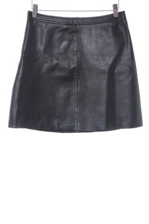 Hallhuber Lederrock schwarz Elegant