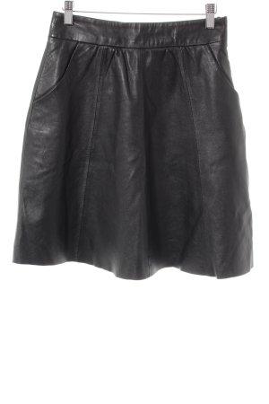 Hallhuber Lederrock schwarz klassischer Stil