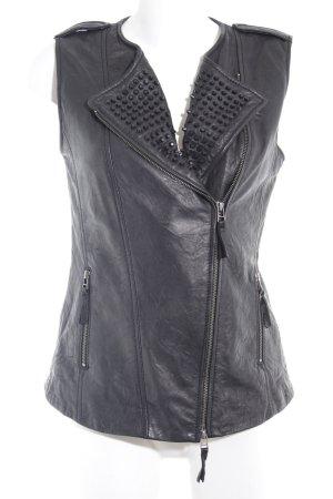 Hallhuber Leather Vest multicolored biker look