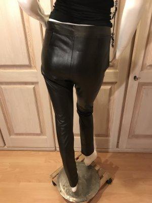 Hallhuber Leggings negro Imitación de cuero