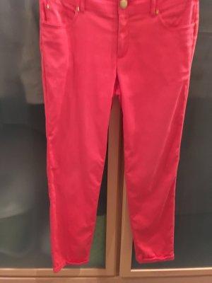 Hallhuber Pantalón de pinza alto rojo tejido mezclado