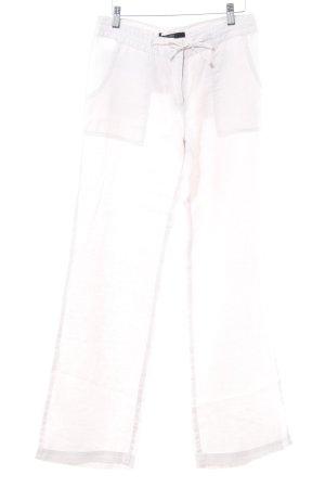 Hallhuber Pantalon en lin vieux rose style décontracté