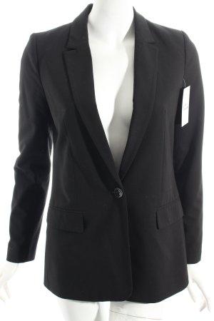 Hallhuber Long-Blazer schwarz klassischer Stil