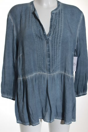 Hallhuber Long-Bluse graublau Casual-Look