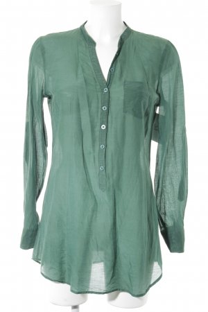 Hallhuber Blusa larga verde bosque look casual