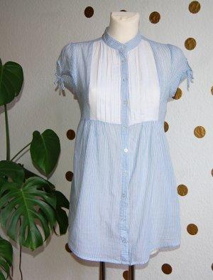 Hallhuber Longbluse Hemd leichte Baumwolle XS 34