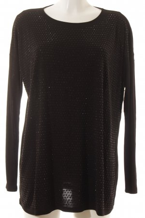 Hallhuber Longpullover schwarz Party-Look