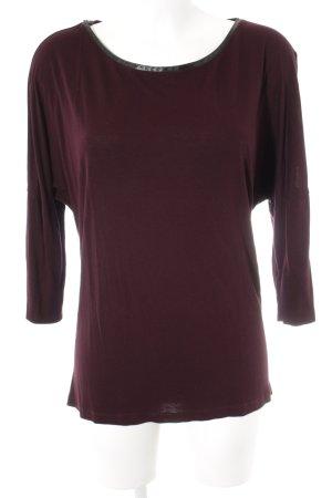 Hallhuber Longshirt braunviolett Casual-Look