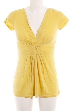 Hallhuber Longshirt gelb Casual-Look