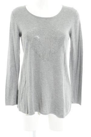 Hallhuber Manica lunga grigio chiaro stile casual