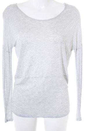 Hallhuber Top à manches longues gris clair moucheté style décontracté