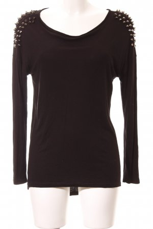 Hallhuber Longsleeve schwarz-silberfarben extravaganter Stil