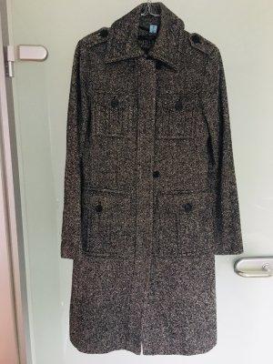 Hallhuber Cappotto in lana bianco-nero