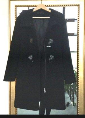 Hallhuber Mantel Größe 34 Wollmantel Kaschmir Wolle Kapuze Dufflecoat