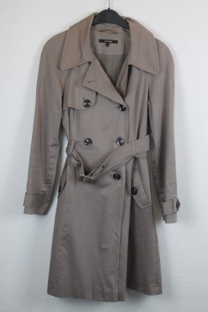 Hallhuber Mantel Trenchcoat Gr. 34 beige/hellbraun (18/5/044)