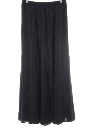 Hallhuber Maxirock schwarz minimalistischer Stil