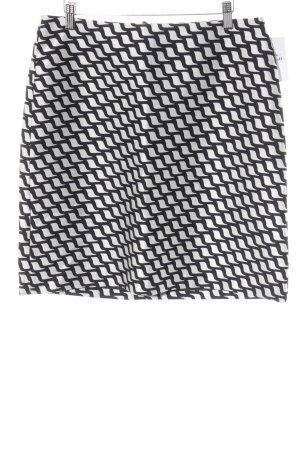 Hallhuber Midirock schwarz-weiß Elegant