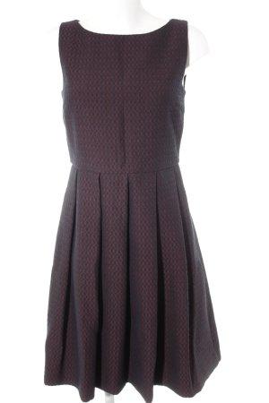 Hallhuber Minikleid dunkelrot-dunkelblau grafisches Muster klassischer Stil