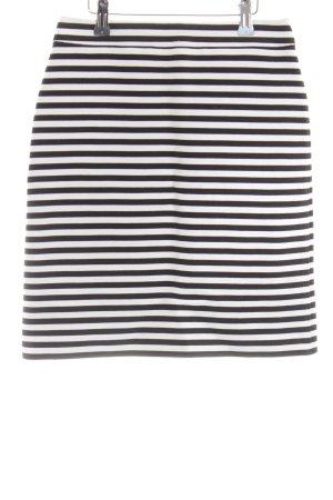 Hallhuber Minirock schwarz-weiß Streifenmuster Casual-Look
