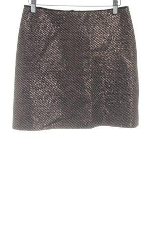 Hallhuber Minirock bronzefarben-schwarz Streifenmuster Casual-Look