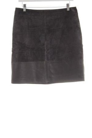 Hallhuber Minirock schwarz Allover-Druck extravaganter Stil