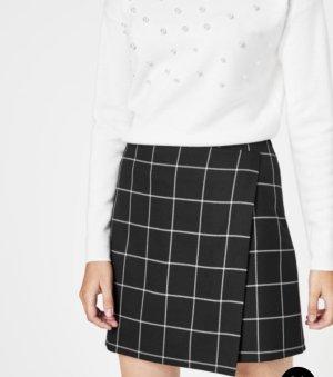 Hallhuber Miniskirt black-white