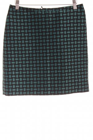 Hallhuber Minirock schwarz-kadettblau abstraktes Muster Elegant