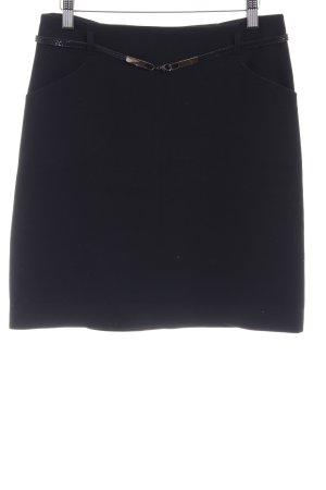 Hallhuber Minirock schwarz schlichter Stil