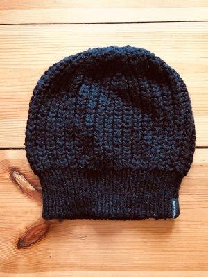 Hallhuber Mütze, Häkelmütze, Wintermütze, schwarz