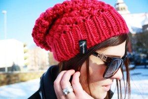 Hallhuber Mütze, magenta, Streetstyle-Look